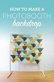 learn how to put together your own diy photobooth backdrop for your wedding day this