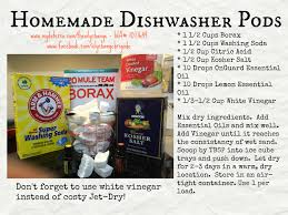 homemade dishwasher cleaner. Homemade Dishwasher Pods With DoTERRA Oils Cleaner
