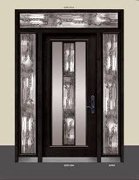 well known wrought iron stained glass door with 2 side lites and transom xw26