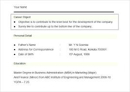 Marketing Resume Objective Examples Megakravmaga Com