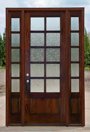 clear beveled glass exterior 10 lite door with rain glass