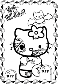Small Picture Coloring Pages Hello Kitty Halloween Coloring Hello Kitty Mummy