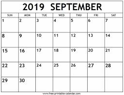September 2019 Calendar Wyzguys Cybersecurity