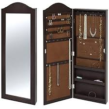 wall mirror jewelry cabinet clic brown wooden curved top mounted mirrored jewellery wall mirror jewelry cabinet