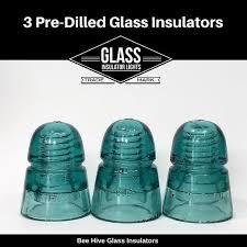 3 pre drilled glass insulator for diy insulator lights diy glass insulator pendant light parts kits