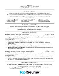 Example Business Resume Banking Resume Examples Investment Banking