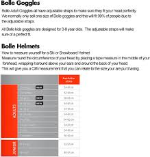 70 Abiding Bolle Helmet Size Chart