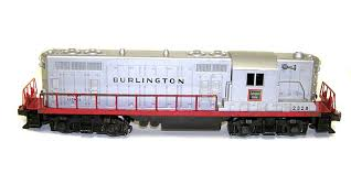 Lionel No 2328 Burlington GP-7 Train Engine Nice! NO RE