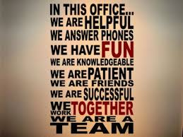 We Are A Team Wall Decal. School Office DecorationsFront ...