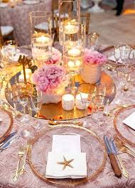 Round Table Settings For Weddings Round Table Mirrors Centerpieces Pearloasis Info