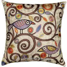 Paisley Sofa klimttreeoflifebirdscreamaccentcushioncoverbeigesofa 4962 by guidejewelry.us