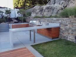 waterfall style concrete custom concrete countertops exterior concrete countertops blue gray concrete