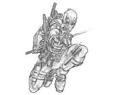Small Picture Deadpool Coloring Pages Photos john Pinterest Deadpool Free