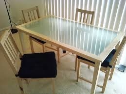 interior ikea glass dining table regarding ikea jherievans decor 18 top and chairs