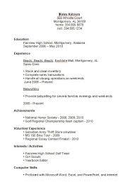Resume CV Cover Letter  high school student resume example resume     Allstar Construction