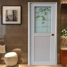 super interior half door elegant design pvc interior bathroom half glass door design wk