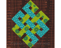 Eternity Knot rotary quick cut quilt block pattern PDF & 🔎zoom Adamdwight.com