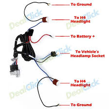 ceramic h headlight headlamp h light bulb relay wiring harness ceramic h4 headlight headlamp h4 light bulb relay wiring harness socket plug set