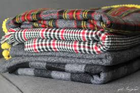 get ready for cooler weather with these simple diy flannel blankets