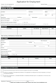 Printable Application For Mployment Mesmerizing Job Application Form Template Internal New Picture Moreover