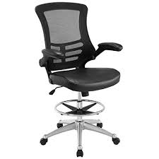 office drafting chair. Modway Attainment Drafting Chair In Black - Reception Desk Tall Office For Adjustable Standing Desks Flip-Up Arm Table