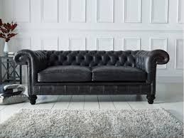 Black Leather chesterfield Sofa from The Chesterfield Company. Available in  a wide variety of premium leathers.