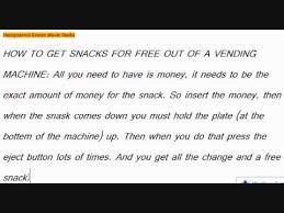 Free Food Vending Machine Code Extraordinary How To Get Free Snacks Out Of A Vending Machine YouTube