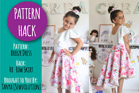 High Low Skirt Pattern Amazing PATTERN HACK Turning The Breeze Dress Into A Flat Front Hilow