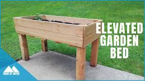 diy elevated garden bed you