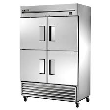 ts 49f 4 hc 54 stainless steel two section solid half door reach true ts 49f 4 hc 54 stainless steel two section solid half door reach in zer 49 cu ft