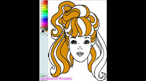 Small Picture Barbie Color And Paint Barbie Coloring Games YouTube
