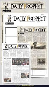 Harry Potter Newspaper Template Harry Potter Daily Prophet Newspaper