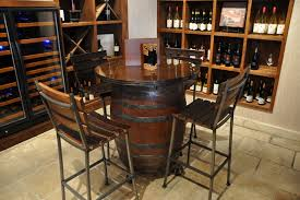 wood barrel furniture. Wine Barrel Table Pub Sosfund In Plan 16 Wood Furniture