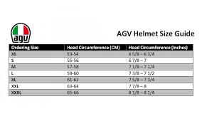Agv Helmet Size Chart Agv K1 Flavum 46 Motorcycle Motorbike Sport Helmet
