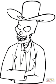 Small Picture Skeleton In Hat coloring page Free Printable Coloring Pages