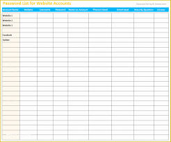 Free Excel Password Manager Template Of Password Manager