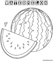 Small Picture Images Watermelon Coloring Page 70 For Pictures with Watermelon