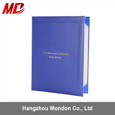 china royal blue leather book style certificate holder four satin corners china certificate holder diploma cover