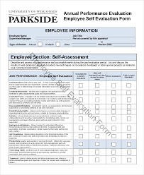 Employee Evaluation Form Example 13 Free Word Pdf