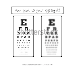 Eye Chart Letters Snellen Chart Eye Test Sharp Blurred Stock Vector Royalty