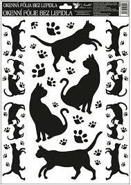 Okenní Fólie černé Kočky 38x30cm