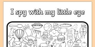 Small Picture I Spy With My Little Eye Colouring Activity Sheet colours