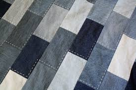 denim quilt made from old jeans - rachel swartley & denim quilt with hand stitching Adamdwight.com