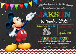 Make Your Own Mickey Mouse Invitations Mickey Invites Under Fontanacountryinn Com