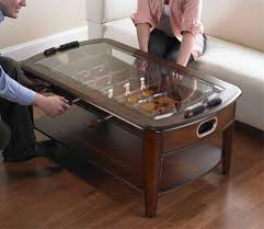 ... Glass Top on Signature Foosball Coffee Table by Chicago Gaming  available at Foosball Planet.