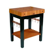 Distressed Black Kitchen Table Wooden Kitchen Prep Table 4inch Thick End Grain Work Surface