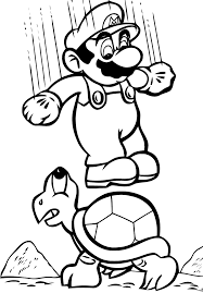 Coloring Pages Mario Bros Coloring Page Pages Free Online Super To