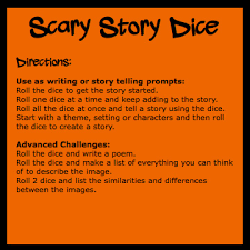 scary story dice thinkingiq more halloween activities scary story dice directions