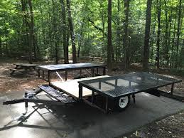 double duty utility camper trailer makes tent camping a breeze