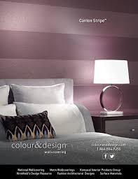 Colour & Design Canton Stripe Wallcovering Interior Design Magazine  Advertisement December 2014
